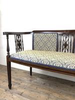 Antique Edwardian Mahogany Inlaid Parlour Sofa (10 of 15)