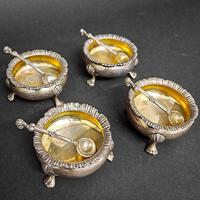 Set of Four Victorian Silver Salts (4 of 5)