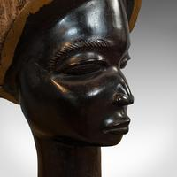 Pair Of, Antique Carved Heads, African, Ebony, Decorative Statue, Victorian (11 of 11)