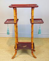Antique French Lacquered & Faux Bamboo Table Stand (2 of 5)