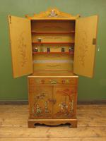 Antique Art Deco Chinese Painted Cabinet, Ornate Gold Decoration, Signed (28 of 28)