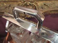 Unusual Victorian Antique Silvered Split Opening Tantalus (7 of 8)