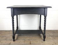 Early 20th Century Oak Side Table with Barley Twist Legs (9 of 9)