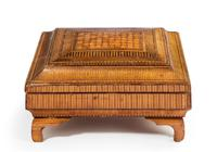 19th Century French Straw Work Box of Quite Outstanding Complexity (2 of 5)