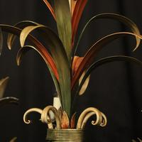 French Polychrome Toleware 5 Light Chandelier (7 of 10)