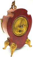Antique French Mahogany & Ormolu Boulle Mantel Clock Shield Boulle Case. (5 of 7)