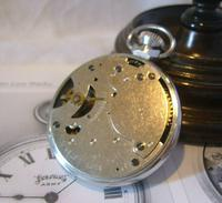 Vintage Pocket Watch 1955 Services Army Two Tone Dial Chrome Case FWO (9 of 10)