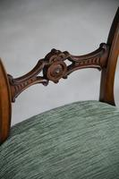 Set of 4 Antique Victorian Walnut Dining Chairs (3 of 12)