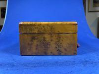 French 19th Century Burr Cedar Box. (14 of 14)