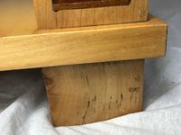 Art Deco Style 20th Century French Blonde Wood Side Table (13 of 13)