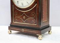 English George IV Mahogany Bracket Clock by Warwick (4 of 9)