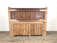 Pitch Pine and Oak Settle Bench with Drawers (M-1475) (7 of 11)
