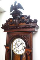 Wow! Antique German Single Weight Walnut 8-Day Vienna Regulator Wall Clock (10 of 11)