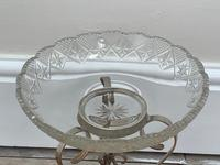 19th Century Victorian Silver Plate Sphinx Cut Glass Epergne Centrepiece Stand (9 of 28)
