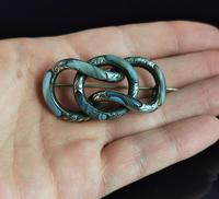Antique Victorian Scottish Agate & Silver Knot Brooch (11 of 11)