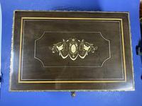 19th Century French  Ebonised Fruitwood Jewellery Box (9 of 18)