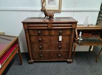 Antique George III c1830 Flame Mahogany Secretaire Chest