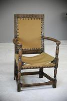 Oak & Leather Carver Chair (3 of 12)
