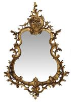 Rare Pair of 19th Century Pier Giltwood Mirrors in the Rococo Manner (2 of 4)
