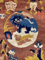 Antique Chinese Ningxia Rug 1.61m x 0.74m (8 of 9)