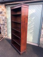 Tall English Mahogany Open Library Bookcase (4 of 10)