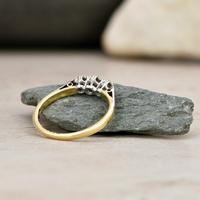 The Vintage Early 20th Century Three Diamond Ring (6 of 6)