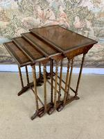 Late 19thC Nest Of Four Tables with Brass Banding (3 of 7)