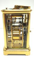 Large Classic Antique French 8-day Gong Striking Repeating Carriage Clock c.1880 (5 of 10)