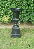 19th Century Victorian Cast Iron Urn on Stand (4 of 4)