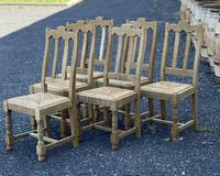Set of 6 French Bleached Oak Farmhouse Dining Chairs (9 of 13)