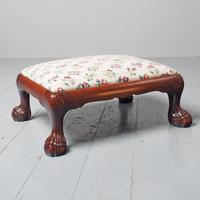 Carved Mahogany Footstool by Whytock & Reid (2 of 5)