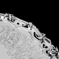 Exceptional Large Solid Sterling Silver Victorian Salver/tray/platter 47cm with Cast Border - Hunt & Roskell - Storr Mortimer & Hunt (16 of 29)