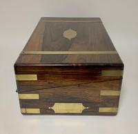 Superb Antique Victorian Rosewood Brass Bound Writing Slope Box (11 of 15)