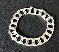 Italian Vintage Silver Link Bracelet by Patrassi Alfredo