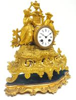Stunning Quality French Mantel Clock Lady & Lord Figural Mantle Clock. (5 of 9)