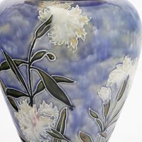 Royal Doulton Stoneware Tubelined Vase with Verse by Bessie Newbery c.1910 (4 of 8)