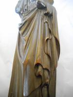 19th Century Wooden Carving of a Saint (5 of 6)