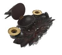 Black Forest Carved Inkwell Desk German Cuckoo Bird 1880 (5 of 8)