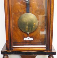 Antique Rocket Cased Single Weight Walnut 8-Day Vienna Regulator Wall Clock (11 of 14)
