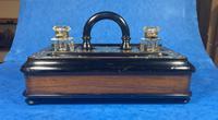 Victorian Brassbound Walnut Inkstand (5 of 16)
