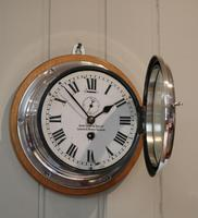 Nickel Plated Ships Bulkhead Clock (3 of 5)