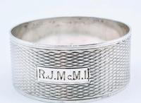 SM Levi 1932 Solid Silver Napkin Ring