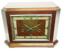 Smiths Art Deco Mantel Clock Triple Chime 8 Day Westminster Chime Mantle Clock. (4 of 8)