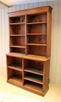 Solid Oak Open Cabinet Bookcase (6 of 11)