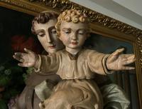 Bohumil Kafka RARE Carved Statue Sculpture St Anthony & Jesus (20 of 32)