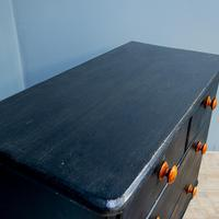 Vintage Painted Chest Of Drawers Black (3 of 7)