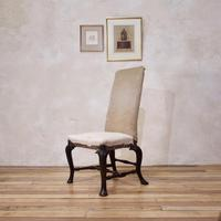 18th Century Ebonised & Upholstered Queen Anne Side Chair (10 of 13)