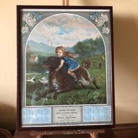 Victorian Grocer Advertising Calendar 1889 - Croydon Interest