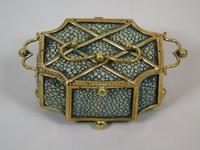 Fine Antique Shagreen Jewellery / Ring Trinket Box (7 of 9)