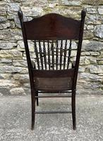 Antique American Armchair with Steamed Bentwood Arms (11 of 14)